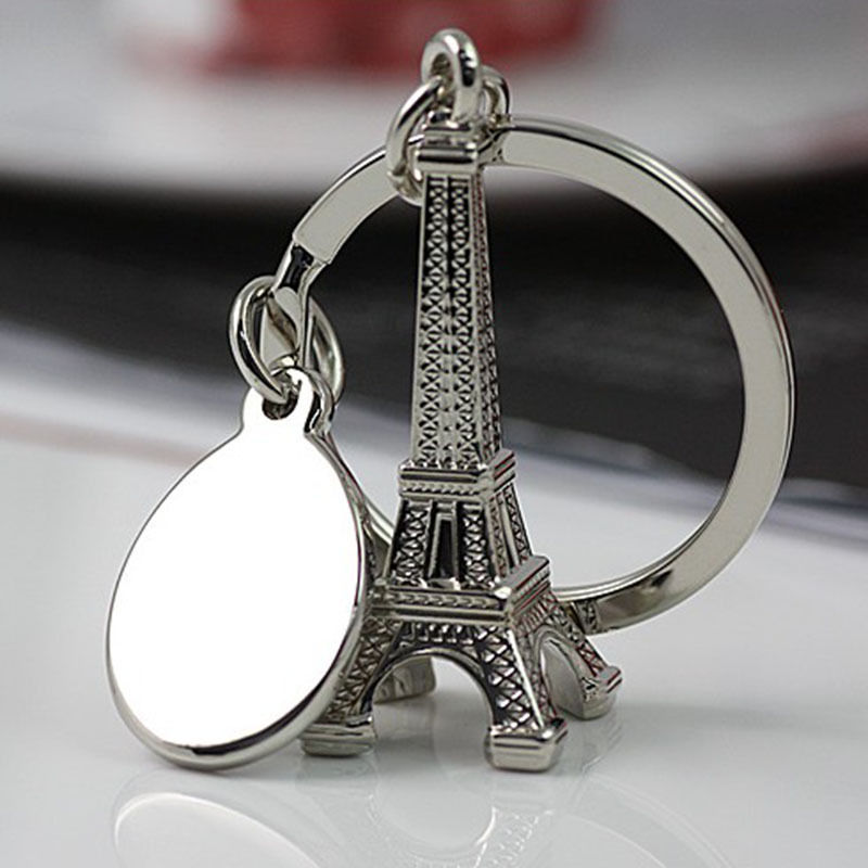 3D Creative Style Retro Mini Eiffel Tower Keychain Keyring Keyfob Lover Gifts Key Chain