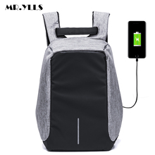 MR.YLLS 2017 New Functional Backpack USB Charge Business Backpack College Student Nylon School Backpack with Anti-theft pocket