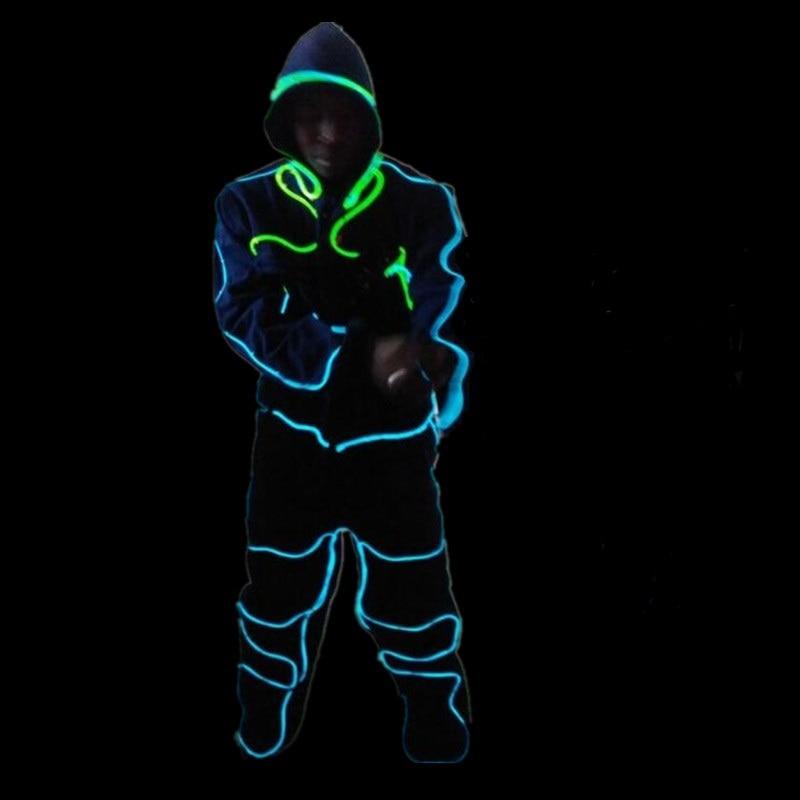 Hot Sale Led lights Robot ELWire Dance Costume Ballroom Cold Light ...