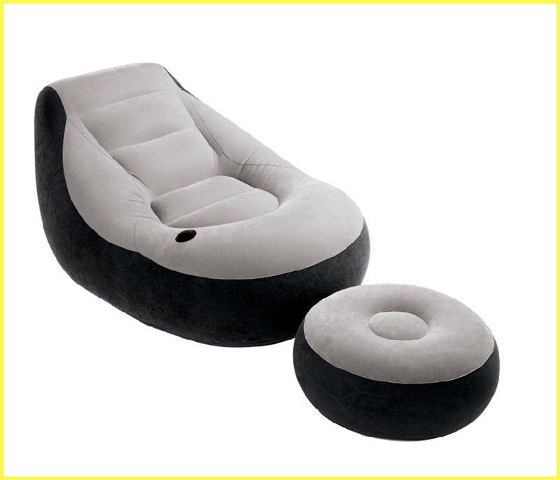 buy cheap inflatable sofa chairs with ottoman pvc - Chairs For Living Room Cheap