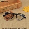 2016 Старинные оптические очки кадр 5186 Компьютерные очки кадров Малый круглая рамка оптических оправ мужчины женщины близорукость óculos