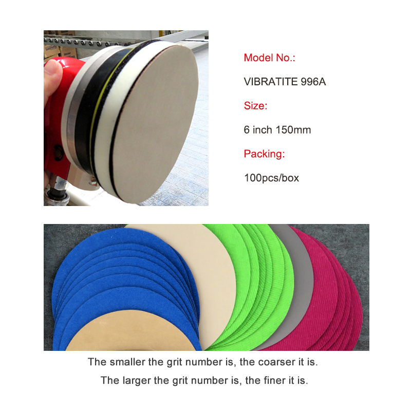 Image 4 - 20pcs 6 Inch 150mm Waterproof Sanding Discs Hook & Loop Silicon Carbide Sandpaper Wet/Dry 60 to 10000 Grit for Polishing-in Abrasive Tools from Tools
