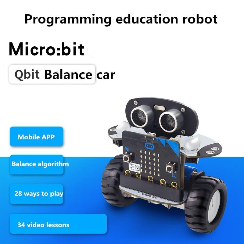 Microbit Smart Balance Car LOBOT Qbit/microbit Expansion Board Programmable Robot