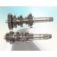 OEM QULITY QG125 3 Gear shaft Kit main & counter TRANSMISSION shaft Gear Assembly TRANSMISSION GEARS AXLE SPINDLE SET