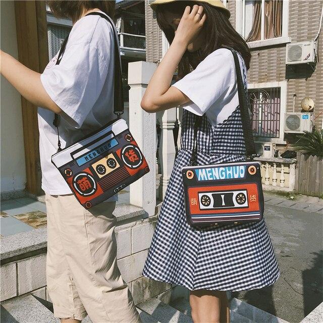 2947aa102be91 Harajuku Personalized Color Printing Women Shoulder Messenger Bag Retro  Coin Purse Designer Mobile Phone Bag Travel Small Bags