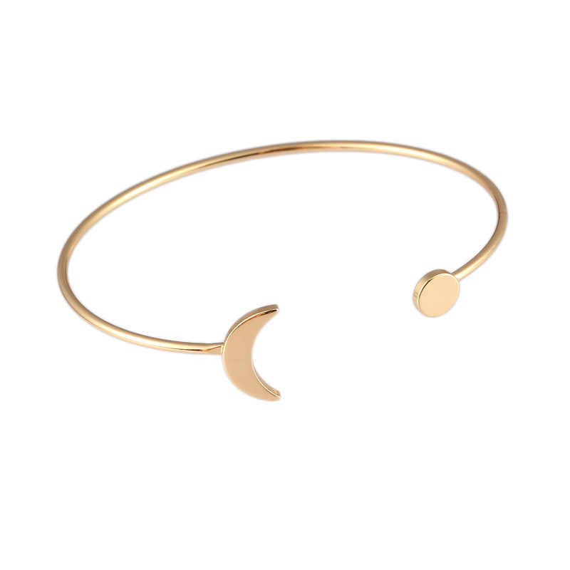 2019 Hot Sale Fashion Adjustable Cuff Opening Bracelets Bangles Trendy Gold Silver Bracelet Stainless Steel Bracelet Accessories