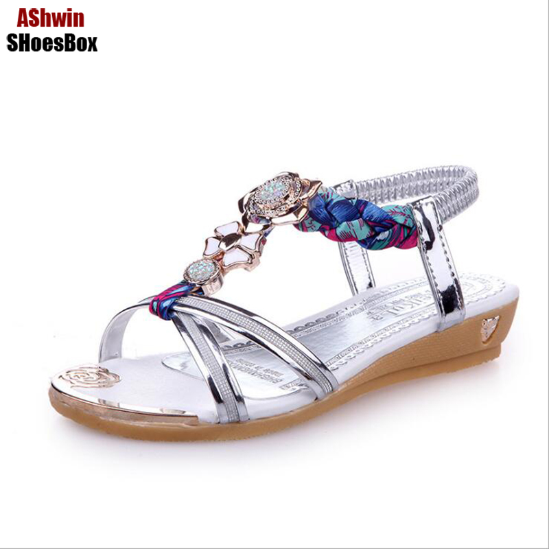 bohemia sandals women beach slippers flats gladiator sandal flip flops summer beads sweetie shoes woman low heel shoes T-strap bees slippers women g designer flats sandals bees logo fashion women beach summer slippers flip flops