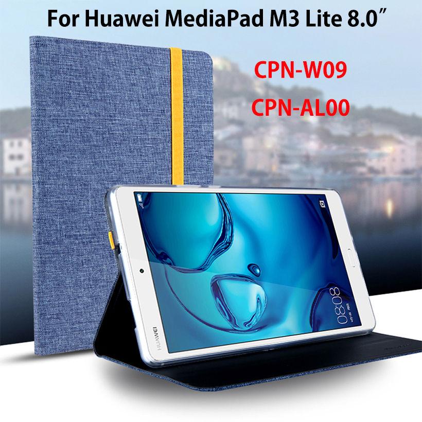 Case For Huawei Mediapad M3 Lite 8.0 CPN-L09 CPN-W09 CPN-AL00 8 Smart Cover Funda Tablet Silicon+Cloth PU Leather Shell pu leather case cover for huawei mediapad m3 lite 8 0 stand hand holder case for huawei m3 8 0 cpn w09 cpn al00 with card slots