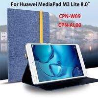 Case For Huawei Mediapad M3 Lite 8 0 CPN W09 CPN AL00 8 Smart Cover Funda