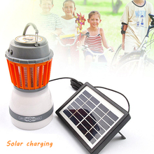 Solar energy LED Mosquito Killer Lamp Bulb Electric Trap Light Electronic Anti Insect Bug Wasp Pest Outdoor Greenhouse camping