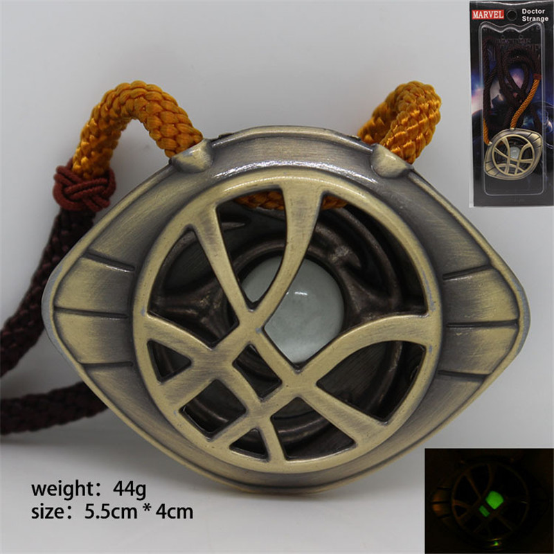 Dr.Steven Doctor Strange Cosplay The Eye Of Agamotto Props Amulet Luminated Necklace Pendant Fashion Necklace Jewelry Accessorie