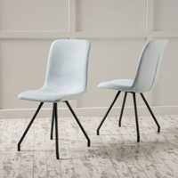 Denise Austin Home Bethany Light Sky Fabric Dining Chair (Set of 2)