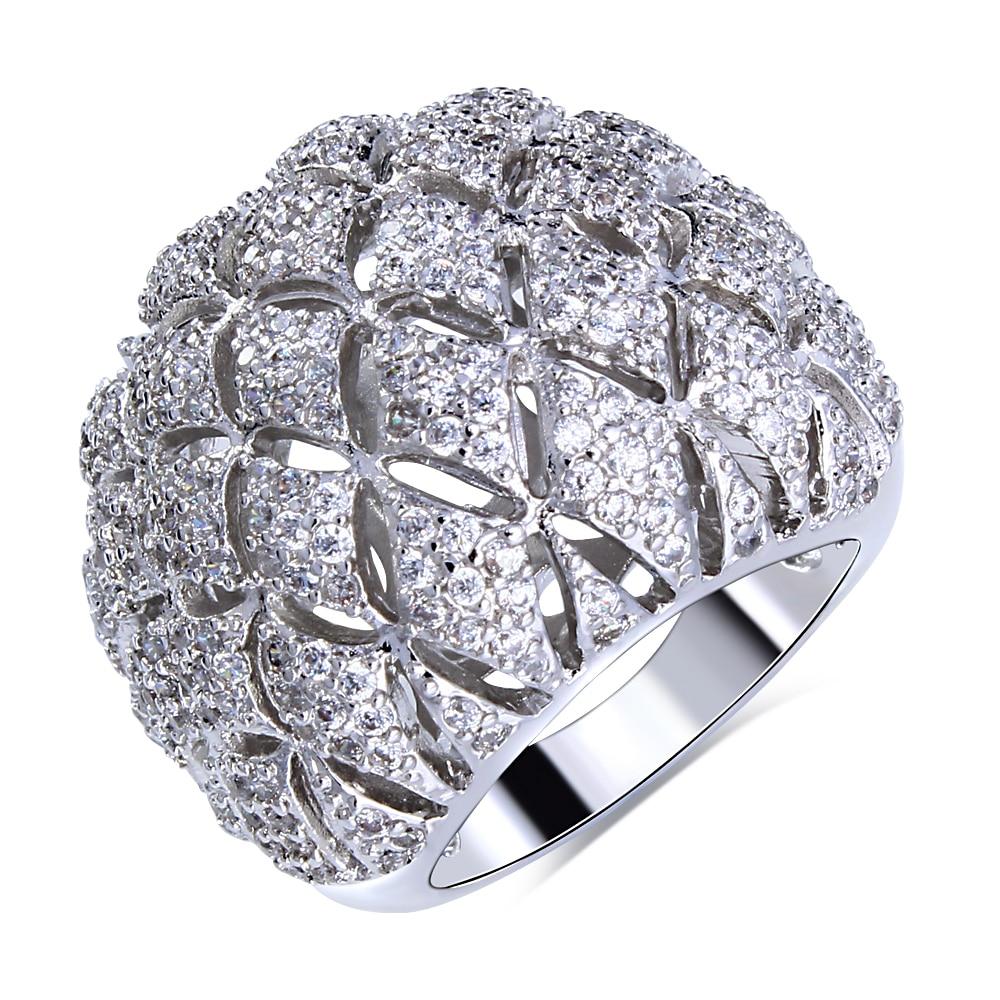 Aliexpresscom Buy Luxury Big Engagement Ring for Women Gold