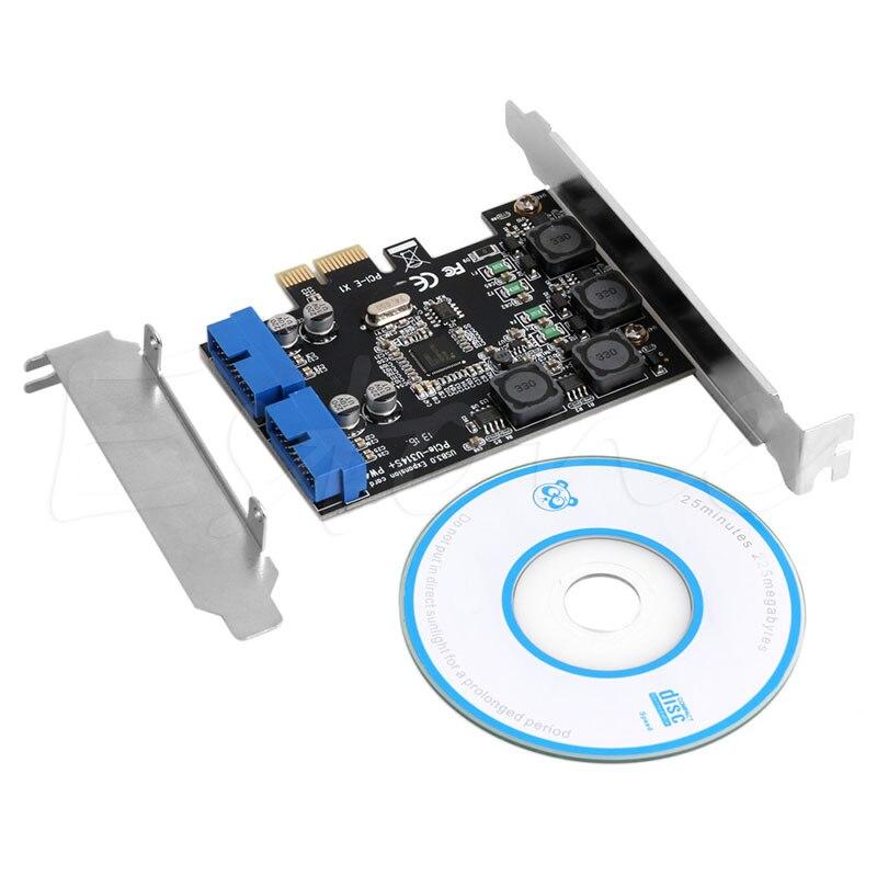 טלויזיות, פלאזמות, LCD 2 כרטיס USB 3.0 Port 19Pin PCI-E להביע יציאות פנימי 20 פינים זכר מתאם PCI (1)