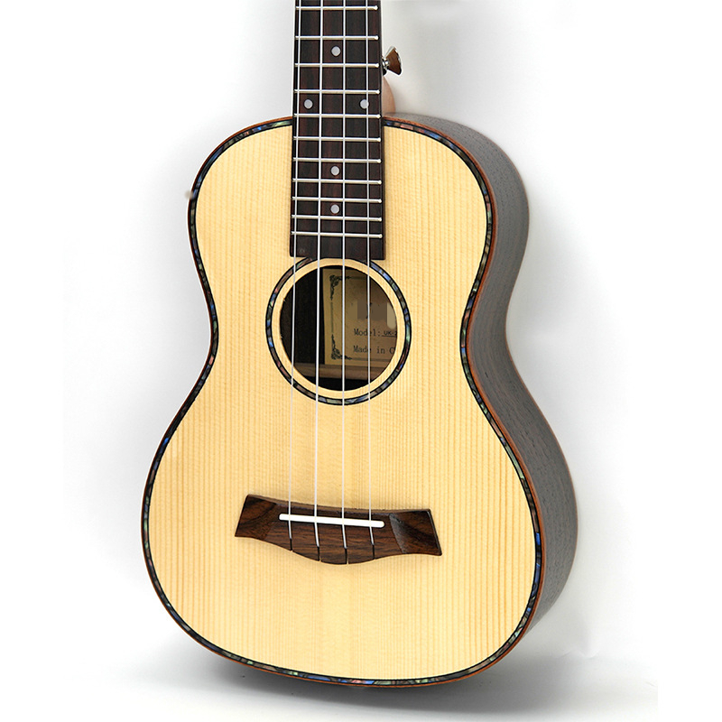 Afanti  Music 26 inch small Guitar / Engelmann Spruce / 26 inch Ukulele (DGA-150) 12mm waterproof soprano concert ukulele bag case backpack 23 24 26 inch ukelele beige mini guitar accessories gig pu leather