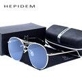 HEPIDEM 2017 Moda de Luxo Da Marca Mulheres Designer de Óculos de Sol do Espelho Azul ou Rosa de Grandes Dimensões das Mulheres Óculos De Sol com Caixa Original