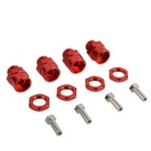 4 pièces en alliage daluminium 12mm à 17mm roue hexagonale moyeu adaptateur de Conversion pour 1/10 RC voiture 1/8 pneus