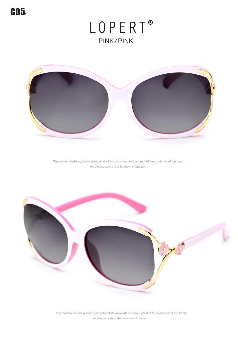 LOPERT Polarizada óculos de Sol Do Olho de Gato Mulheres Glasse Moda ... a3f4a228cd