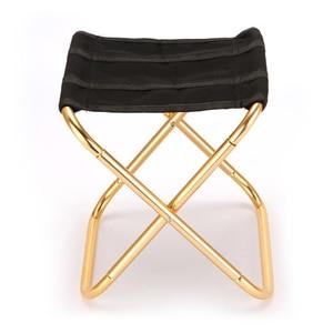 Image 2 - Уличное кресло, портативный складной стул 7075, стулья из алюминия 300 г, ручной стул, мебель для кемпинга, серый, золотой стул 80 кг, стул с сумкой