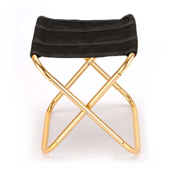 Outdoor Chair Portable Folding Stool 7075 Al Chairs 300G Hand Chair Camping Furniture Gray Golden Stool 80kg Chair with Bag