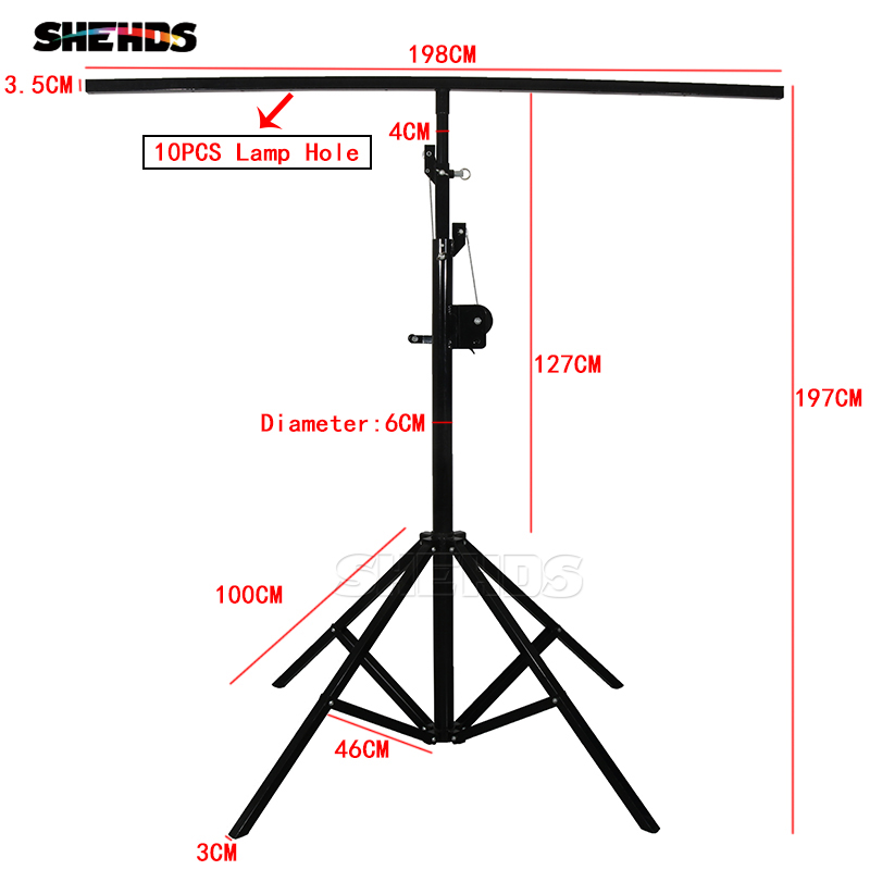 Stage Lighting Effect Commercial Lighting Tiptop Tripod For Stage Led Umbrella Light Rgb Cmy Color Mixing Height Adjustable Stand Bracket Carton Box Packing For Fast Shipping