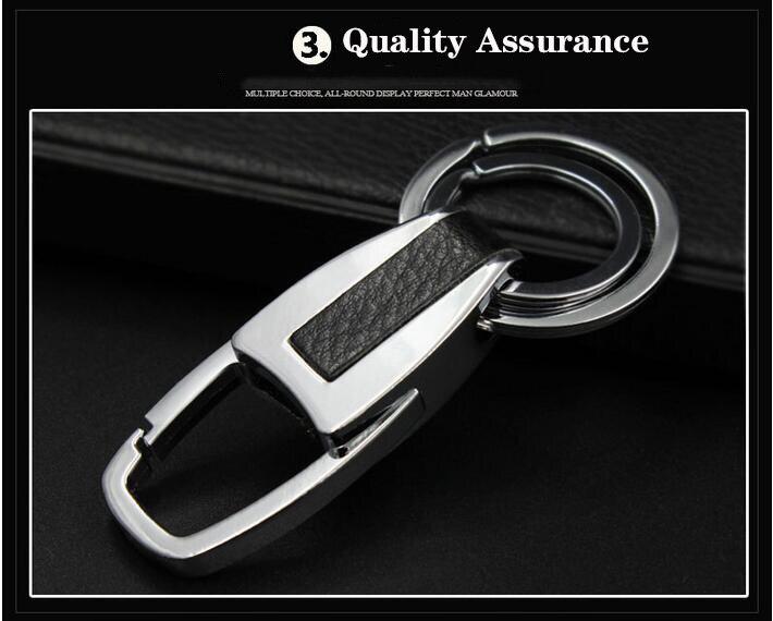 EMEC двойные кольца брелоки Автомобильный брелок для ключей на цепочке винтажный деловой стиль брелок для VW Ford BMW Автомобильный держатель для ключей