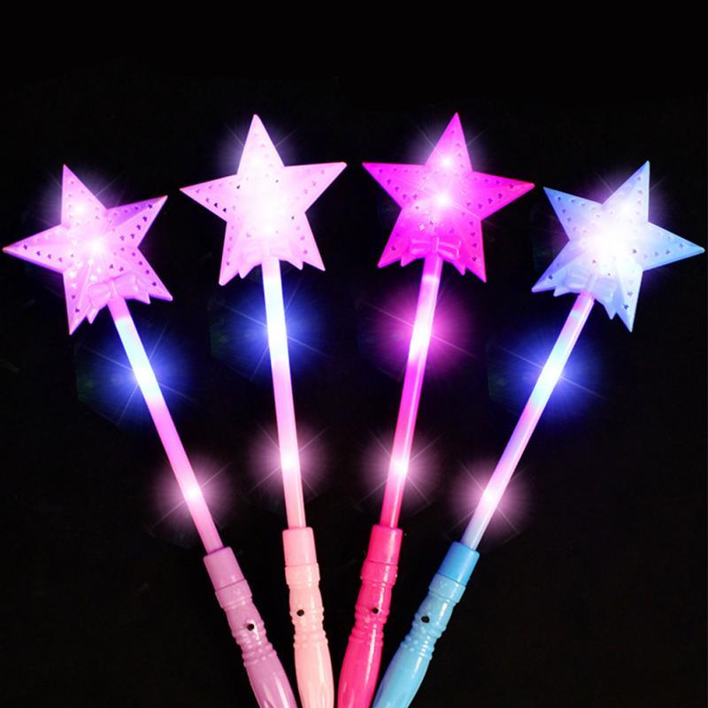 1pcs Star LED Toys 3 Modes Luxury LED Magic Star Wand Flashing Light Up Glow Stick For Party Christmas Colorful Light-Up Toys