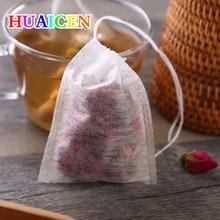 500pcs lot Corn Fiber Empty font b Tea b font bags Teabags food grade PLA Biodegraded