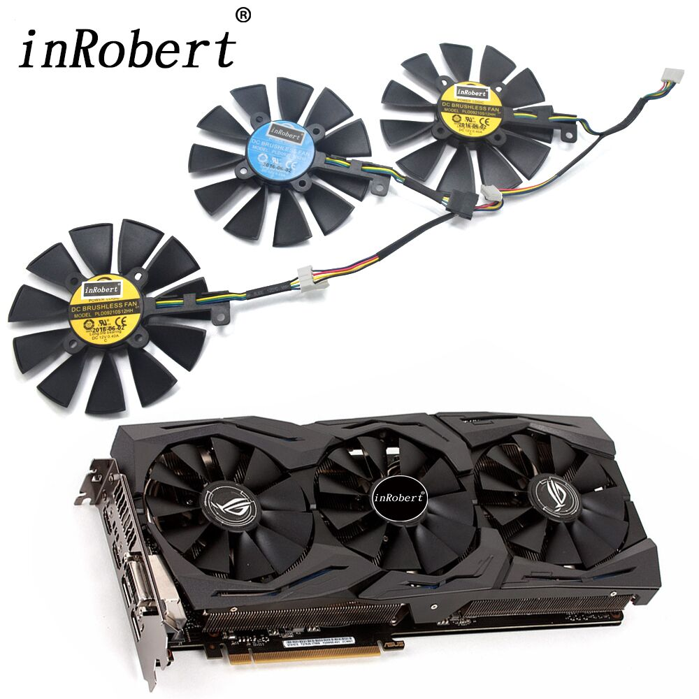 88MM PLD09210S12M PLD09210S12HH For ASUS Strix GTX 1070 1080 GTX 1080Ti RX 580 R9 390X Gaming Graphics Card Cooling Fan NEW new everflow cooler fan replacement for asus strix rx470 rx460 gtx980ti r9 390 390x gtx 1070 1080 graphic card cooling fan