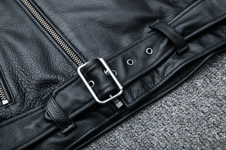 HTB1SkpVKeuSBuNjSsplq6ze8pXai MAPLESTEED Classical Motocycle Jackets Men Leather Jacket 100% Natural Calf Skin Thick Moto Jacket Man Biker Coat Winter M192
