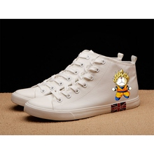 Funny Doraemon Cartoon pattern Jingle cat Superman High Heel Canvas Uppers Sneakers College Personalise Fashion Casual