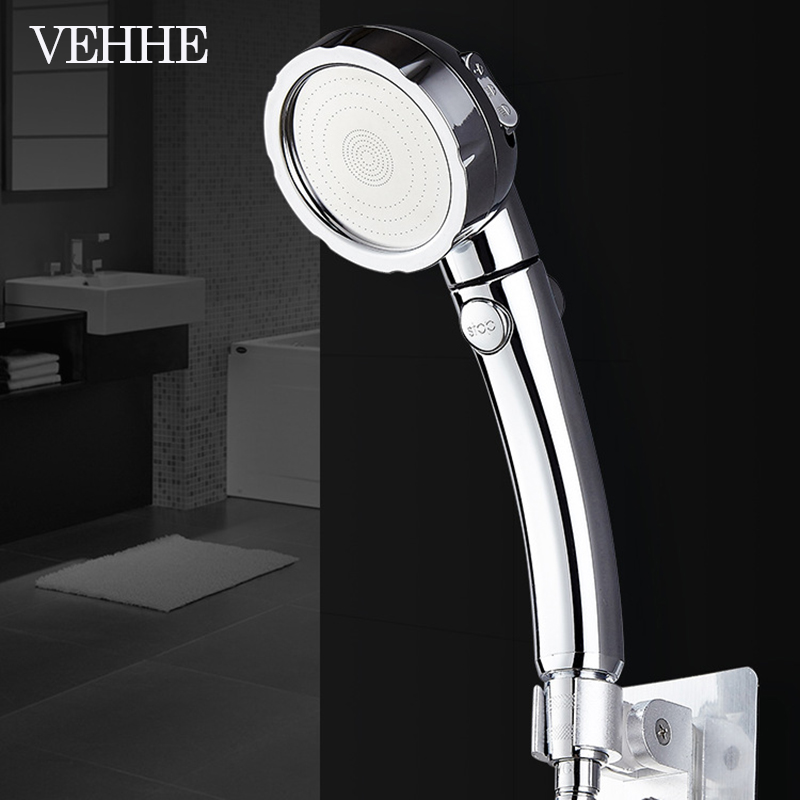 VEHHE 3 Modes switch shower plating surface multi-function SPA Rain Spray Pulse pressurized water flow high quality shower headVEHHE 3 Modes switch shower plating surface multi-function SPA Rain Spray Pulse pressurized water flow high quality shower head