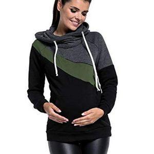 Image 3 - בגדי הריון אופנה משולבת אמא הנקה נים חולצה תפרים הנקה הריון נשים בגדים