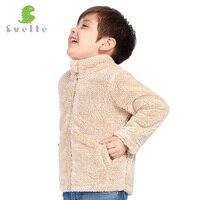 Svelte/для детей 2-7 лет Обувь для мальчиков Обувь для девочек унисекс толстые Мех флисовая куртка верхняя одежда пальто ветровка осень-зима теп...