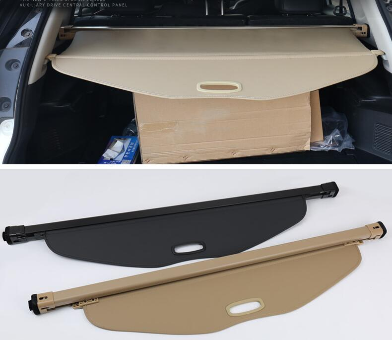 Car Rear Trunk Security Shield Shade Cargo Cover For Nissan X-Trail XTrail Rogue 2014 2015 2016 2017 2018 (Black beige) car rear trunk security shield cargo cover for lexus rx270 rx350 rx450h 2008 09 10 11 12 2013 2014 2015 high qualit accessories