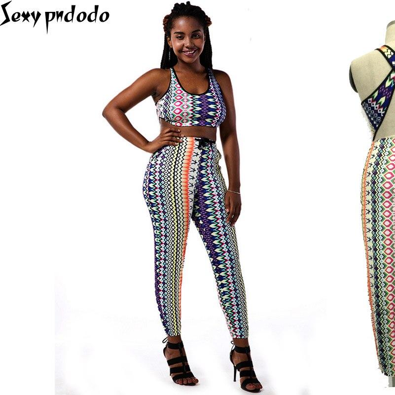 2 Piece Set Women conjunto feminino Crop Top And Skirt Set Pants O-Neck Striped Tee Shirt Boho Beachwear Sexy Tank Tops Woman