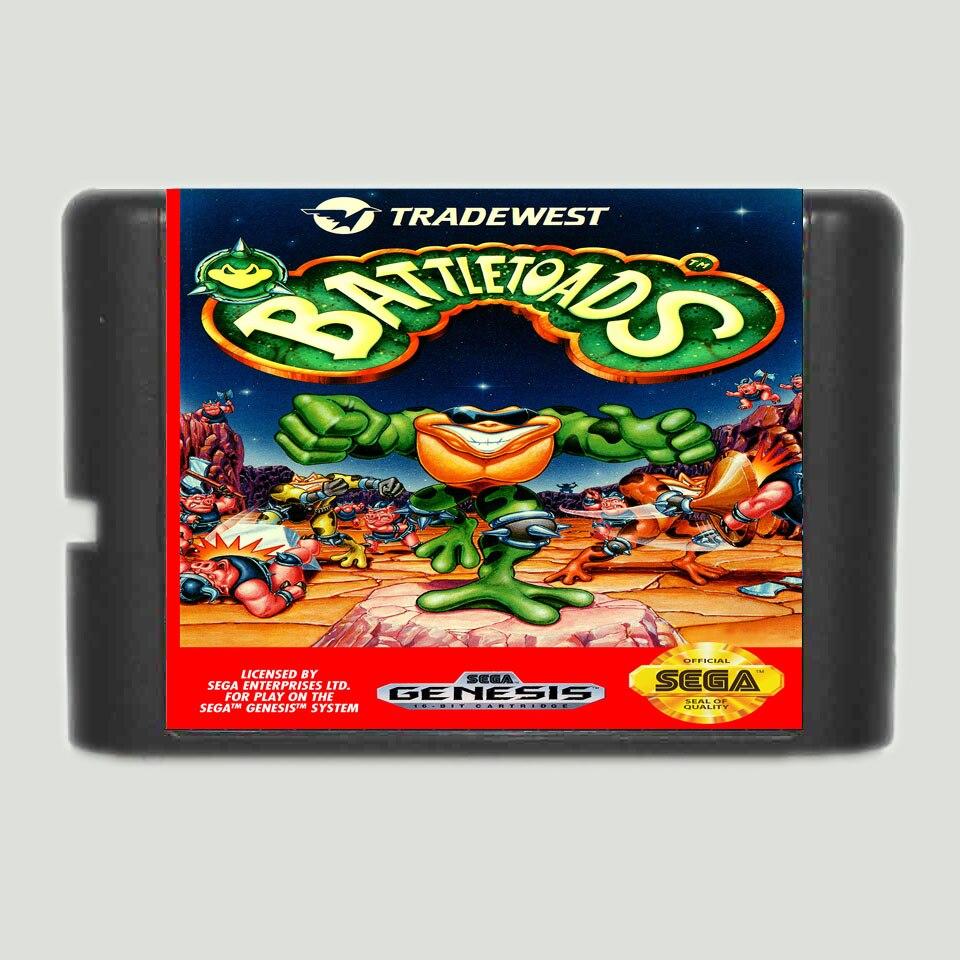 Battletoads 16 bit SEGA MD Game Card For Sega Mega Drive For Genesis