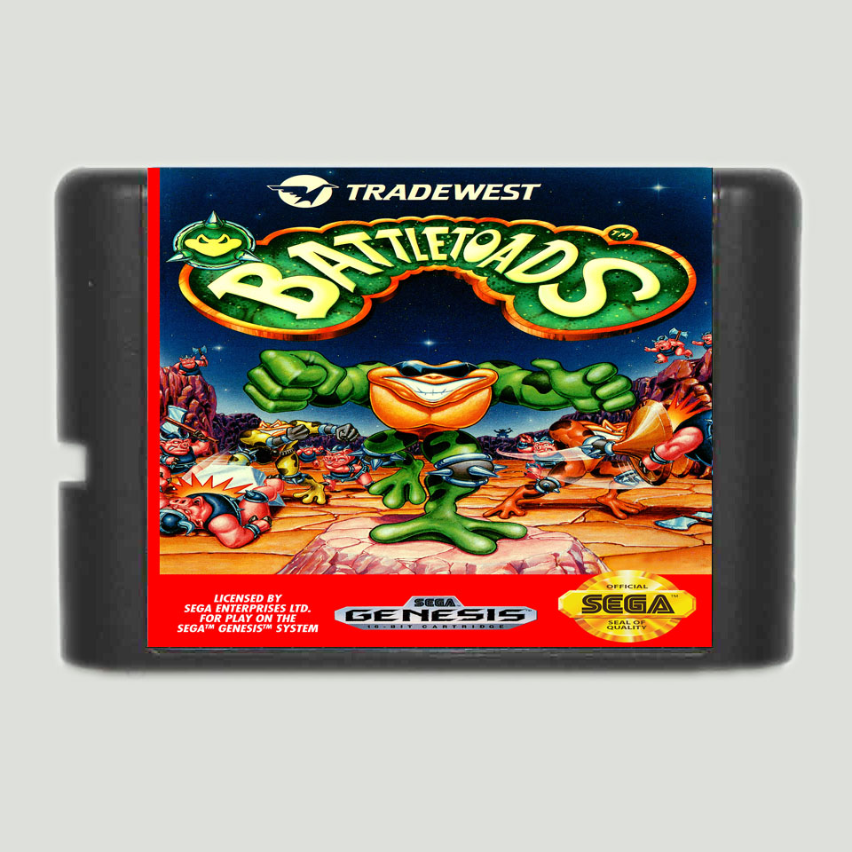 Battletoads 16 bit SEGA MD Game Card For Sega Mega Drive For Genesis image