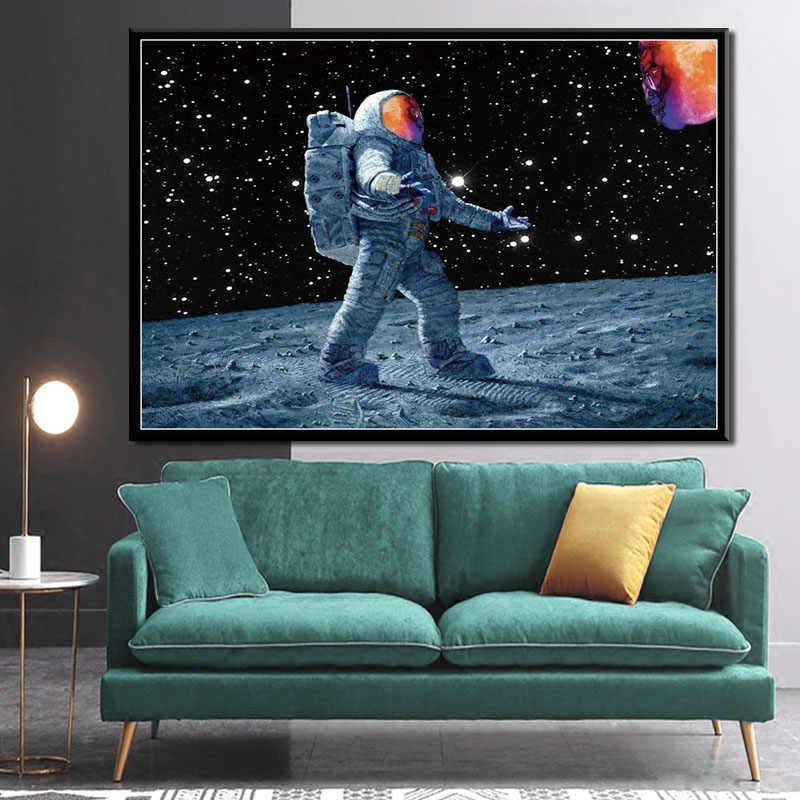 キャンバス絵画男にムーン子供 Cudi 歌手ラッパー音楽スターアルバムポスタープリント写真リビングルーム家の装飾