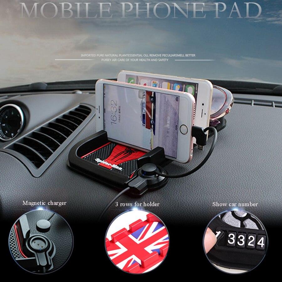imágenes para Car-styling car soporte para teléfono teléfono móvil magnética sostenedor del soporte de carga para el iphone samsung xiaomi lenovo multifunctiona