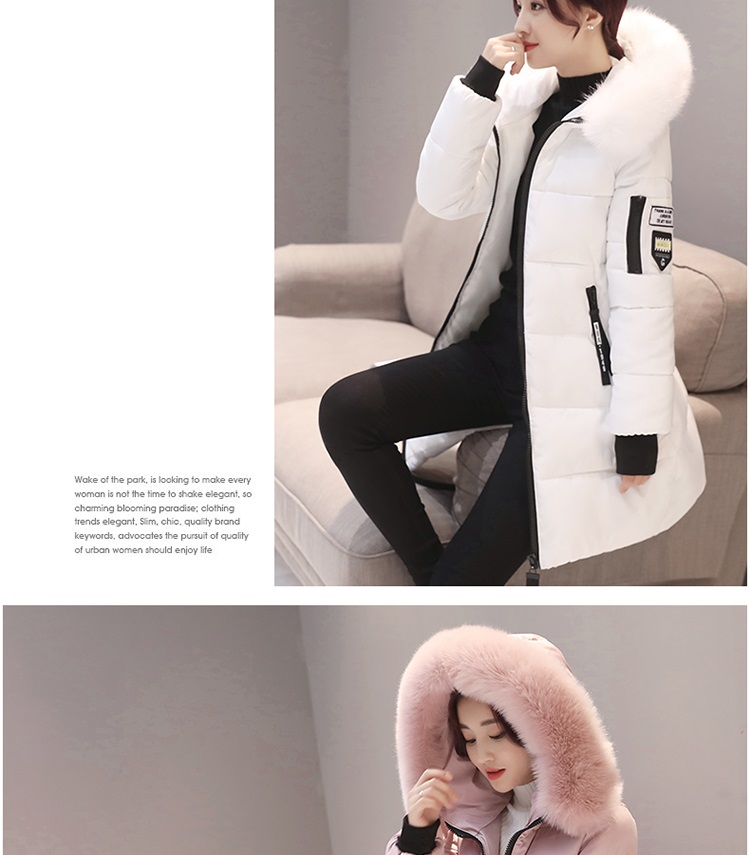 Parka Women Winter Coats Long Cotton Casual Fur Hooded Jackets Women's Winter Down jackets Casual Loose Down Cotton Padded Hooded
