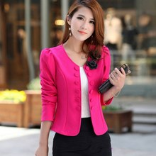 Autumn Jackets Women Double Breasted Slim Female Short Jacket Coat Long Sleeve Suit Blazer