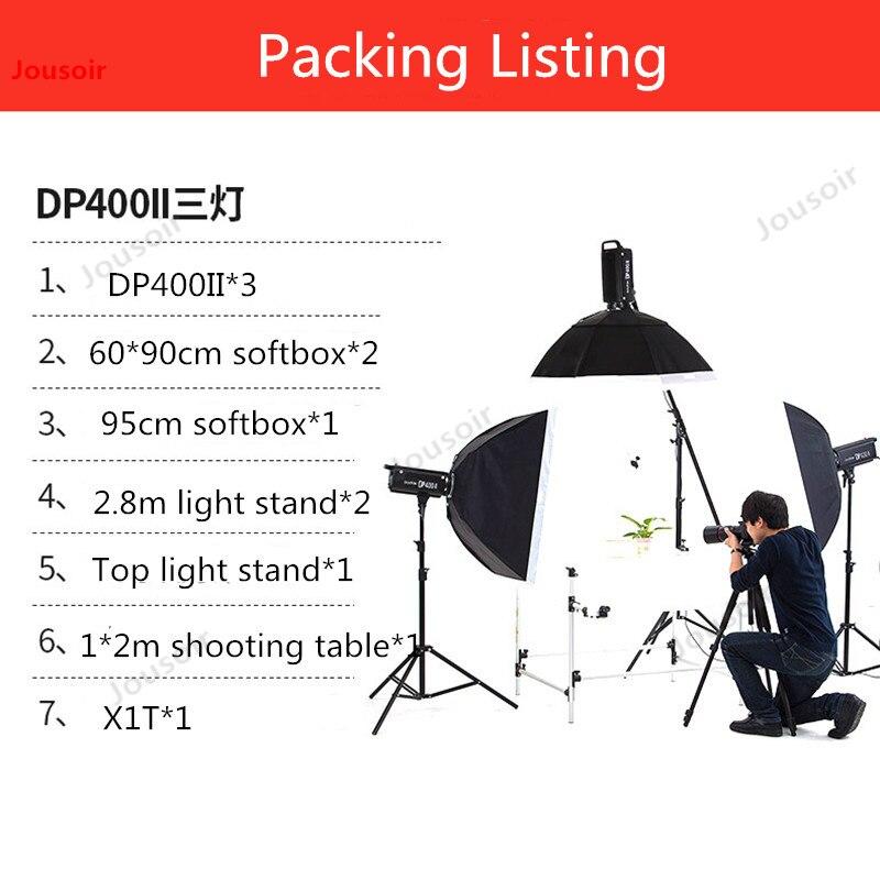 Godox DP400IIW Studio Flash photographie lampe ensemble Studio top lampe softbox équipement trois lumières CD50 T03