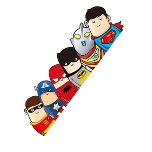 Image 3 - Car Styling Super Hero Hitchhike Save The World Moto Stickers Motorcycle Decal Funny Cartoon Reflective Car Sticker Accessories