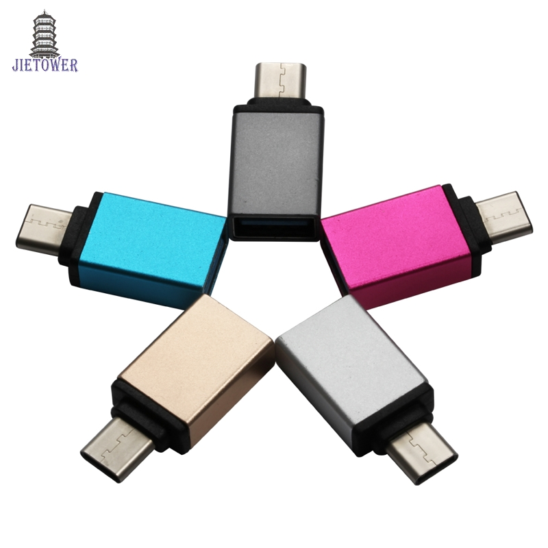 300Pcs/lot Typec Otg Metallic Usb C Kind C Male To Usb 3.zero Feminine Converter Adapter Otg For Macbook Samsung Galaxy Word Meizu Professional
