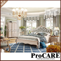 Modern bedroom furniture, double bed design furniture from foshan