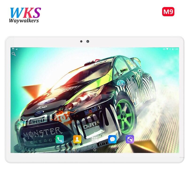 Waywalkers M9 2018 Nouveau 10.1 pouce Tablet PC Octa Core RAM 4 gb ROM 32 gb 64 gb 1920x1200 IPS HD GPS Comprimés Dual SIM Appel Téléphonique