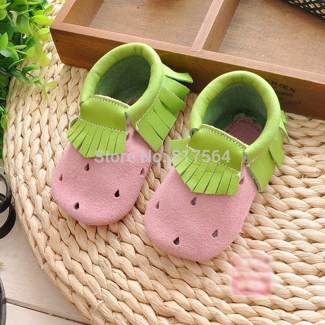 3colors Toddler/infant mixed colour fringe baby shoes New Genuine leather tassel moccasins soft sole moccs booties prewalker