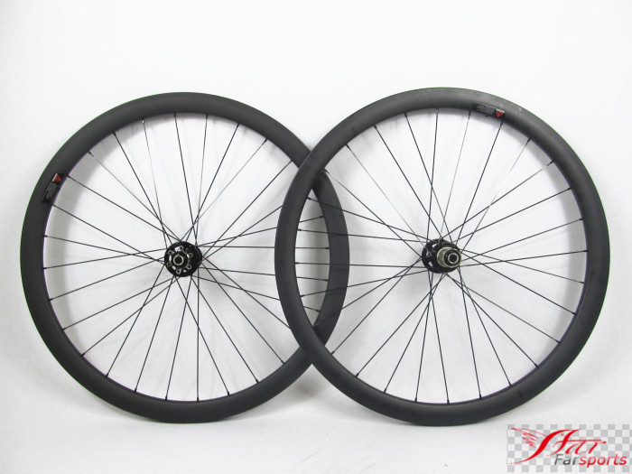 Far sports FSC38-CM-23 Novatec 38 23 Strong wheels cyclocross disc brake, OEM Road XC carbon clincher wheels 38mm far sports carbon wheels 50mm clincher 23mm wide with novatec hub and sapim spokes novatec carbon wheels fsc50cm 23 700c