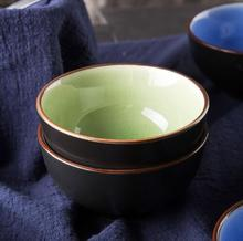 Japanese ice glazed ceramic  random color household  eating soup rice bowl  kitchen products